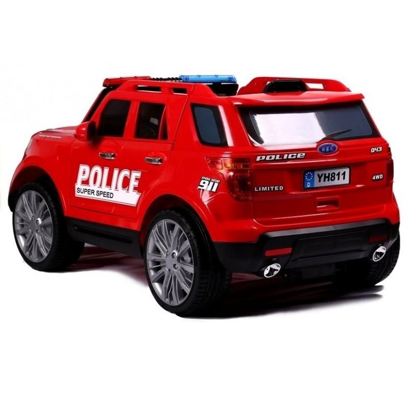 Elektromobilis POLICE raudonas 12V