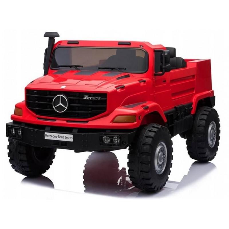 Elektromobilis MERCEDES ZETROS 12 V 120 W raudonas