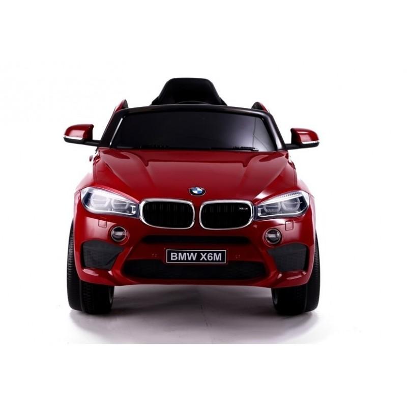 Elektromobilis BMW X6M lakuotas raudonas vienvietis