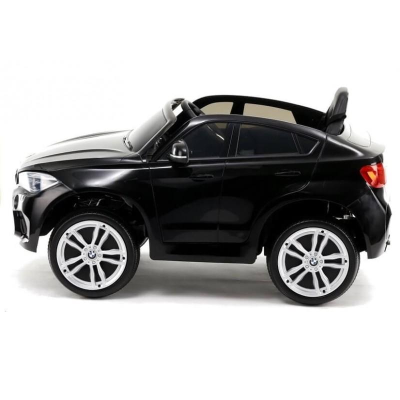 Elektromobilis BMW X6M lakuotas juodas vienvietis