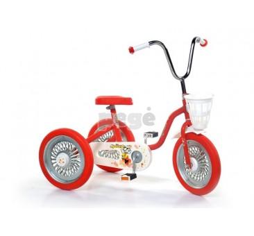 Triratukas SPARITE raudonas su raudonais ratais