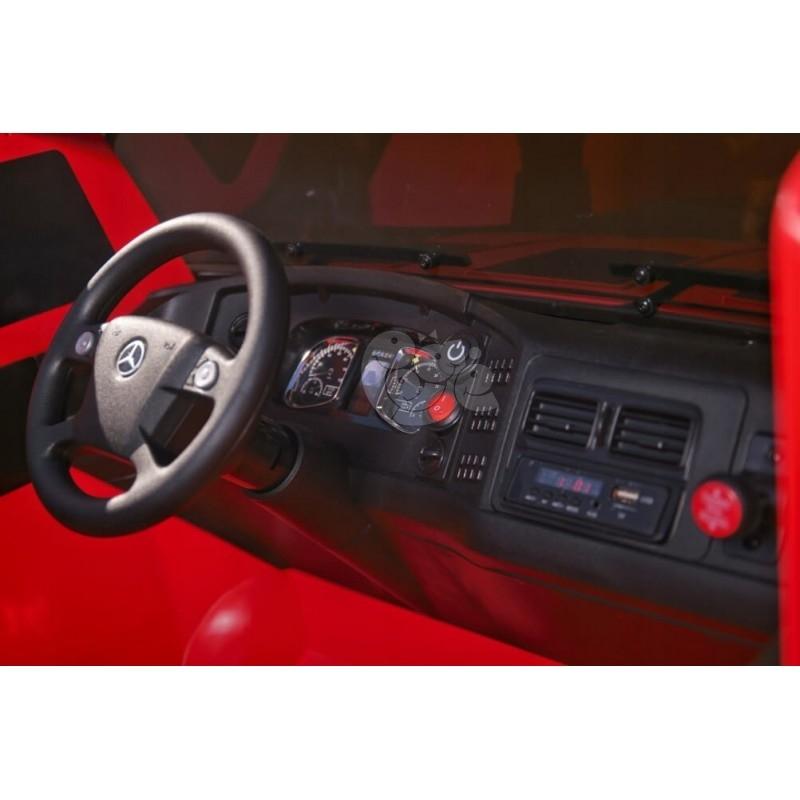 Elektromobilis MERCEDES ZETROS 24 V 240 W raudonas