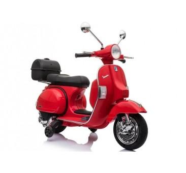 Elektromobilis VESPA 12 V raudonas