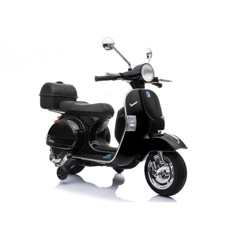 Elektromobilis VESPA 12 V juodas