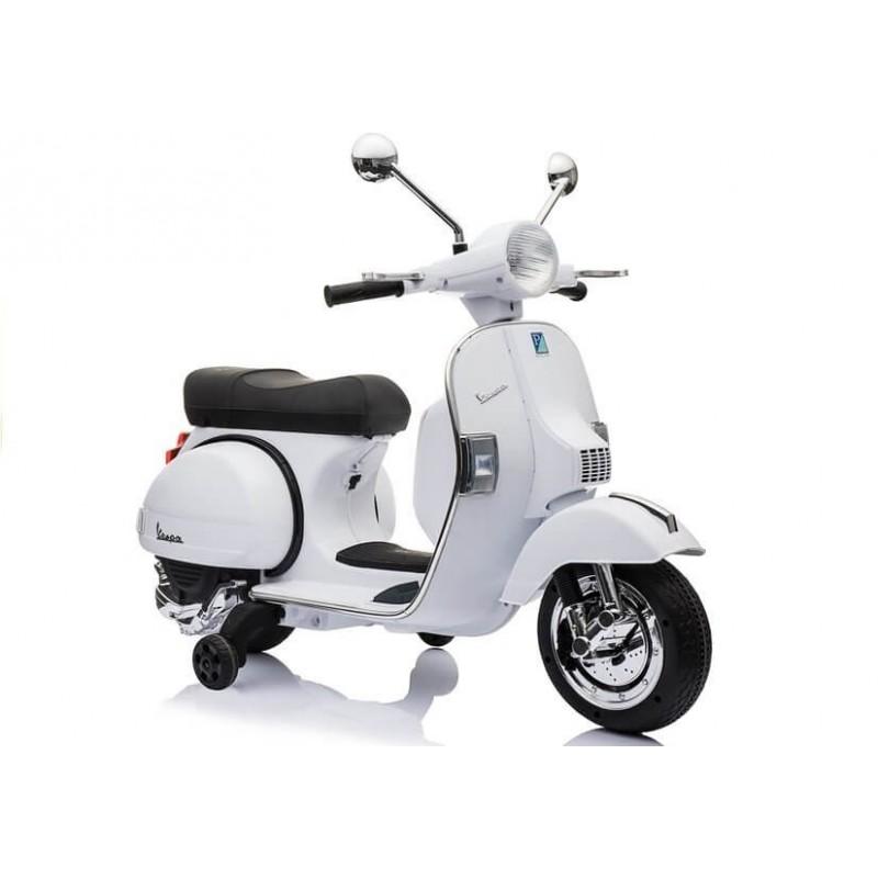 Elektromobilis VESPA 12 V baltas