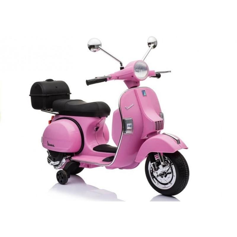 Elektromobilis VESPA 12 V rožinis