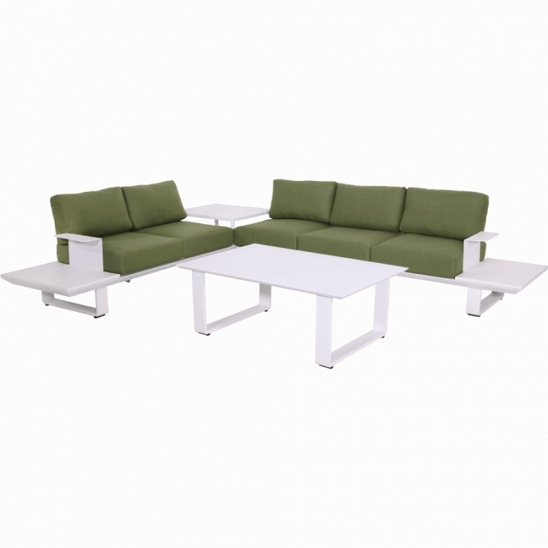 Lauko baldų komplektas ESPRESI SNOW + pufas