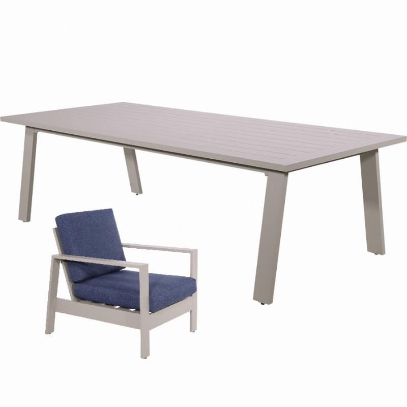 Lauko baldų komplektas DINING MALIBU 4+1
