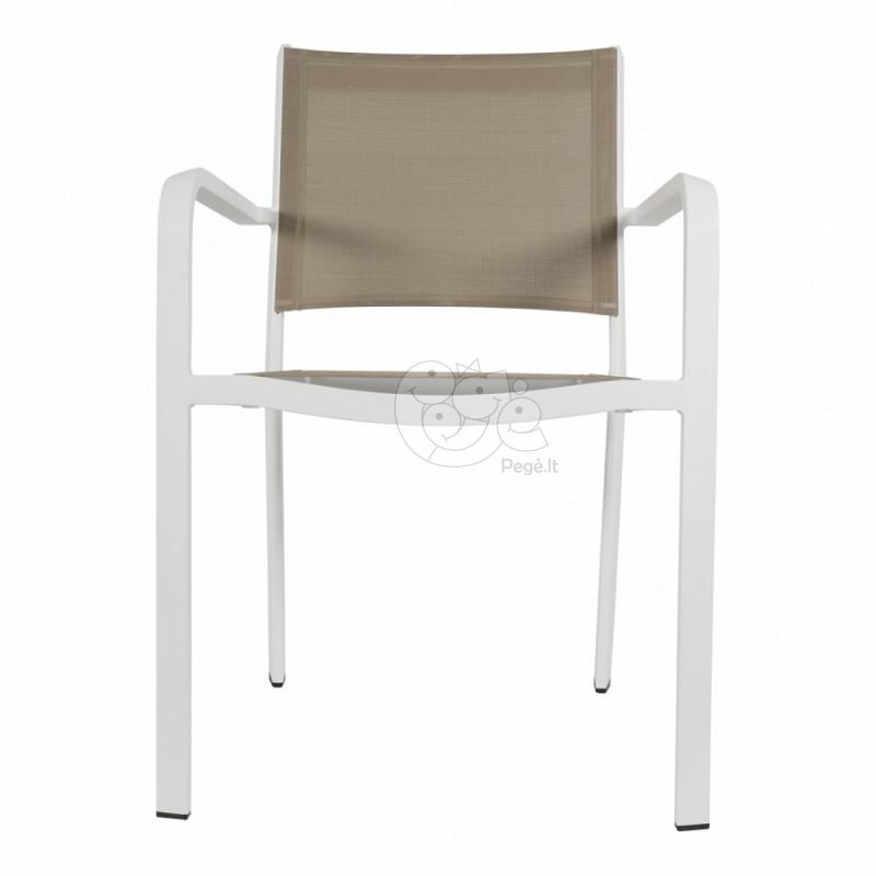 Lauko baldų komplektas BREEZE WHITE 6+1