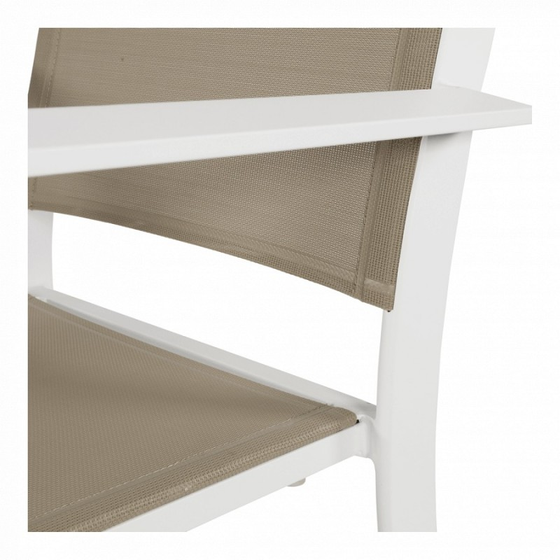 Lauko baldų komplektas BREEZE WHITE 8+1