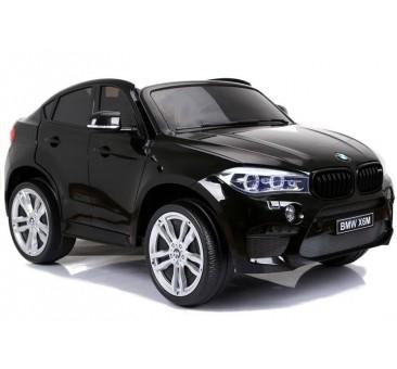 Dvivietis elektromobilis BMW X6M lakuotas juodas 12V