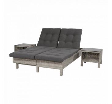 Išskeidžiama lauko sofa su staliuku SOHO BRICK