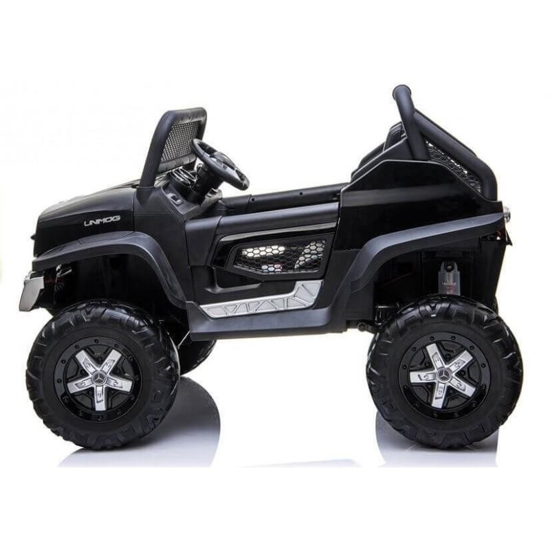 Elektromobilis MERCEDES UNIMOG juodas 12V 4x4