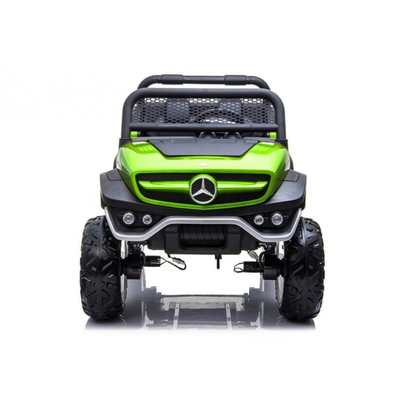 Elektromobilis MERCEDES UNIMOG žalias 12V 4x4