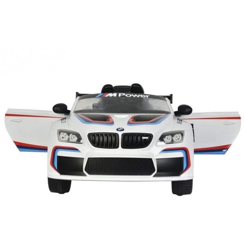 Elektromobilis BMW M6 GT3 baltas 12V