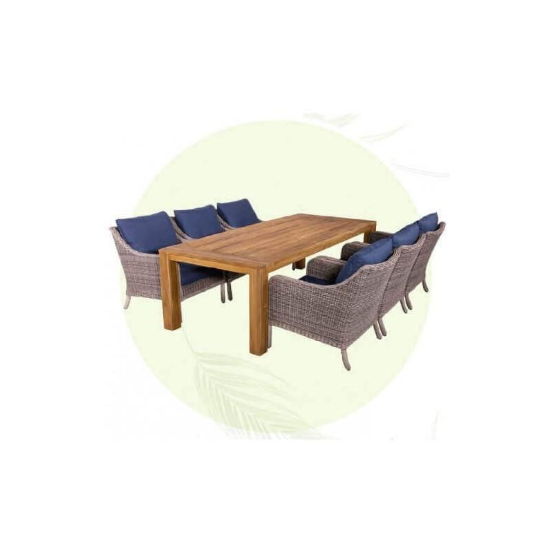 Lauko baldų komplektas NEW YORK 6 + 1