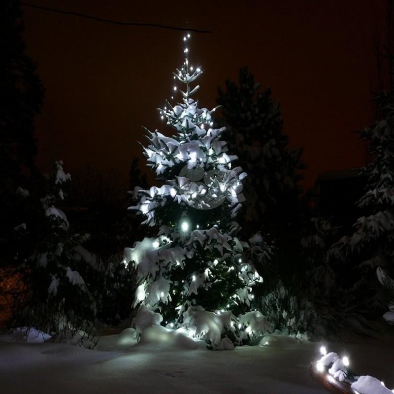 LED girlianda 100 m 600 diodų šaltai balta