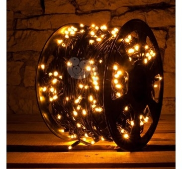 LED girlianda 100 m 600 diodų šiltai balta