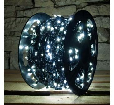 LED girlianda 100 m 600 diodų šaltai balta FLASH