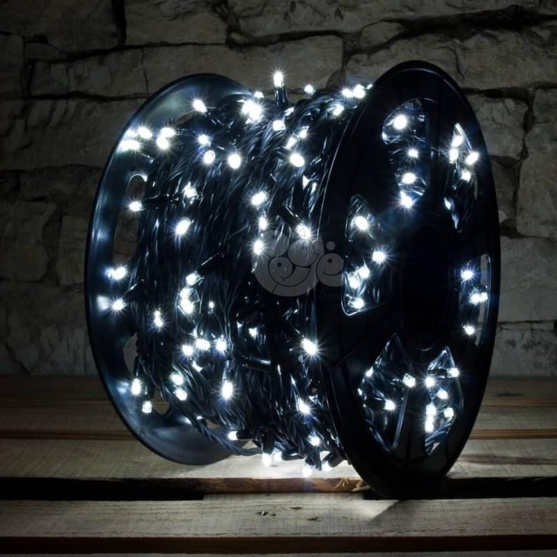 LED girlianda 100 m 1000 diodų šaltai balta