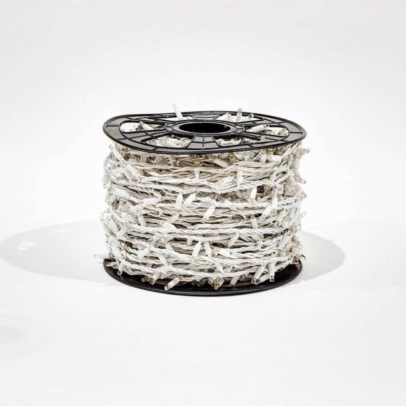 LED girlianda 100 m 1000 diodų šiltai balta FLASH