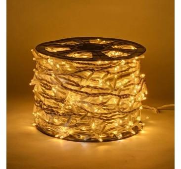 LED girlianda 100 m 1000 diodų šiltai balta