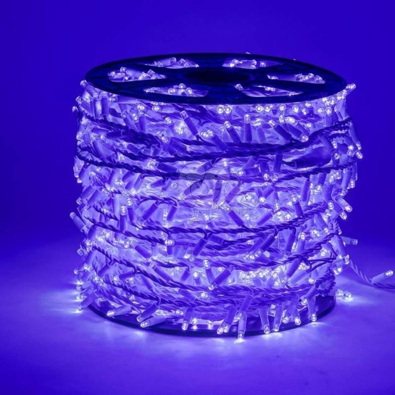 LED girlianda 100 m 2000 diodų mėlyna