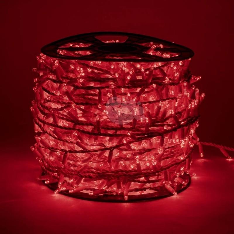 LED girlianda 100 m 2000 diodų raudona