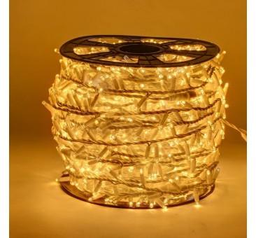 LED girlianda 100 m 2000 diodų šiltai balta FLASH
