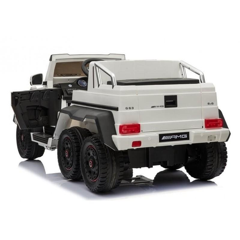 Elektromobilis MERCEDES 6X45W 12V baltas