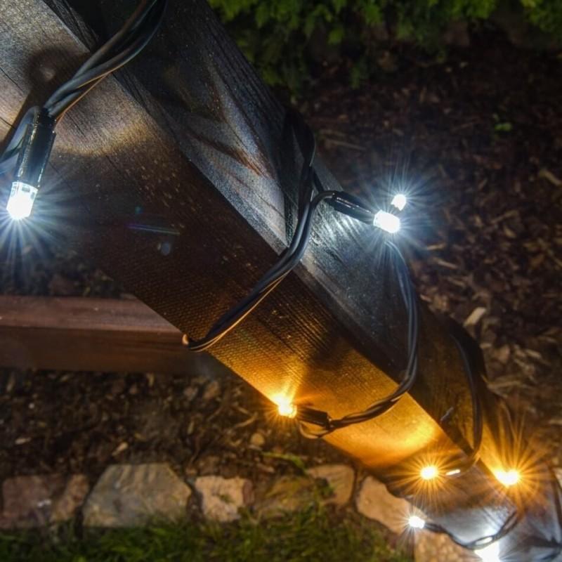 LED girlianda 20 m 120 diodų šiltai/šaltai balta