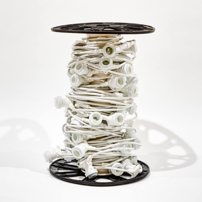 Girlianda-kabelis su cokoliais 50 m 50 cokolių balta
