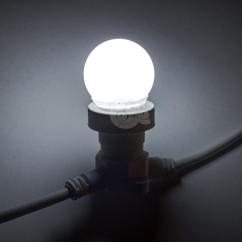 Girlianda juoda su LED lemputėmis 50 m 100 lempučių