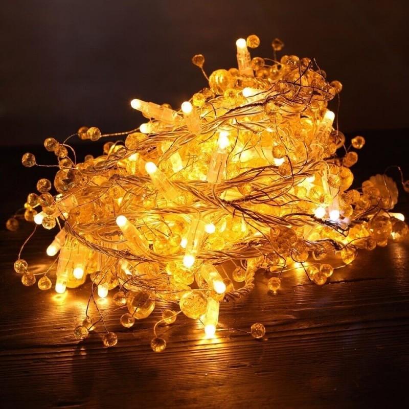 LED girlianda 8 m 80 diodų su kristalais
