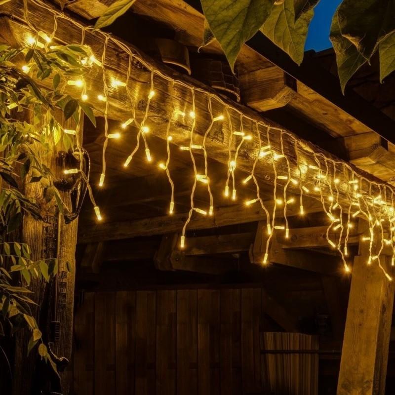 LED girlianda varvekliai 114 diodų 3 m H 0,5 m šiltai balta