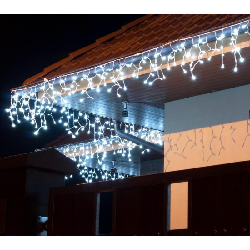 LED girlianda varvekliai 114 diodų 3 m H 0,5 m FLASH šaltai balta