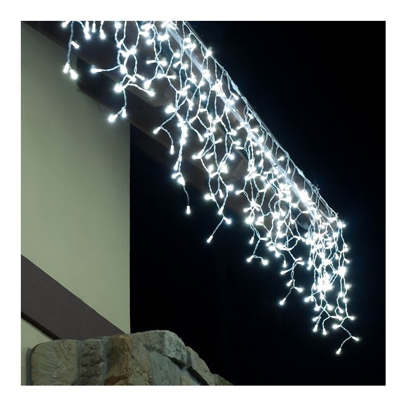 LED girlianda varvekliai 174 diodai 3 m H 0,9 m šaltai balta