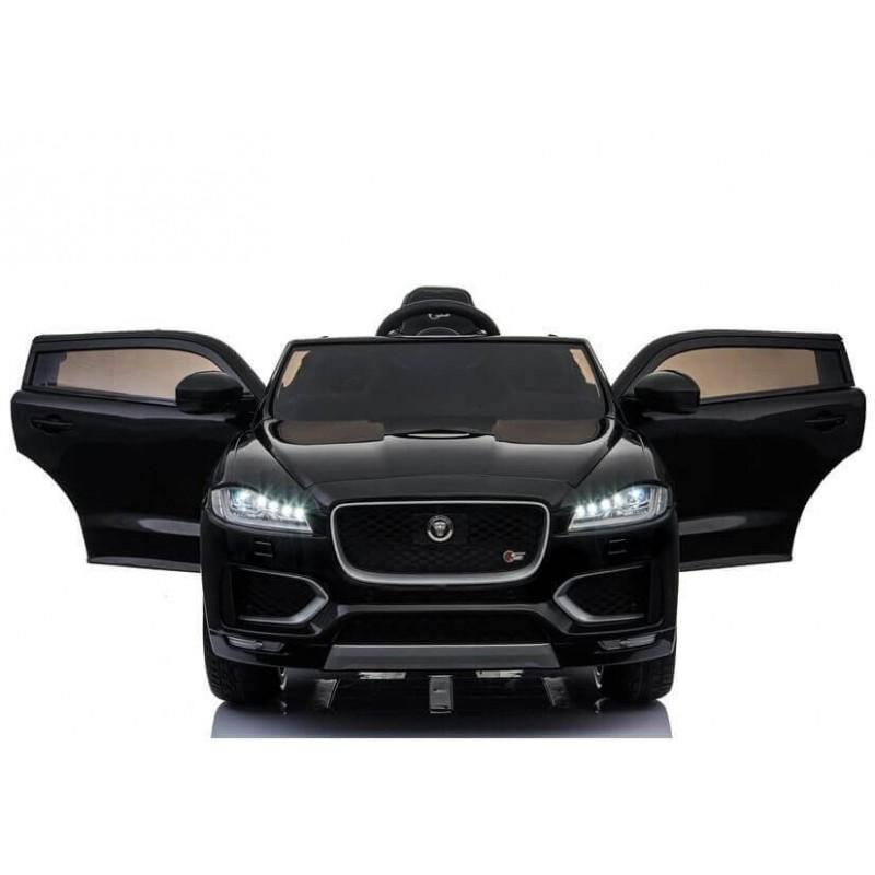 Elektromobilis JAGUAR F-PACE juodas lakuotas 12V