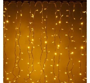 LED girlianda užuolaida 300 diodų 1 m H 3 m šiltai balta