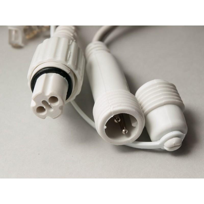LED girlianda užuolaida 300 diodų 1 m H 3 m šaltai balta FLASH