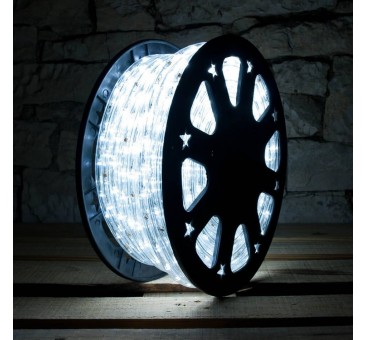 Lankstus šviečiantis LED kabelis 50 m, karp. kas 1 m šaltai balta