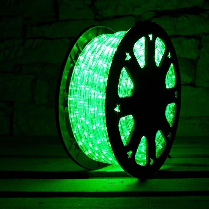 Lankstus šviečiantis LED kabelis 50 m, karp. kas 1 m žalia