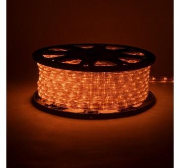 Lankstus šviečiantis LED kabelis 50 m, karp. kas 1 m oranžinė