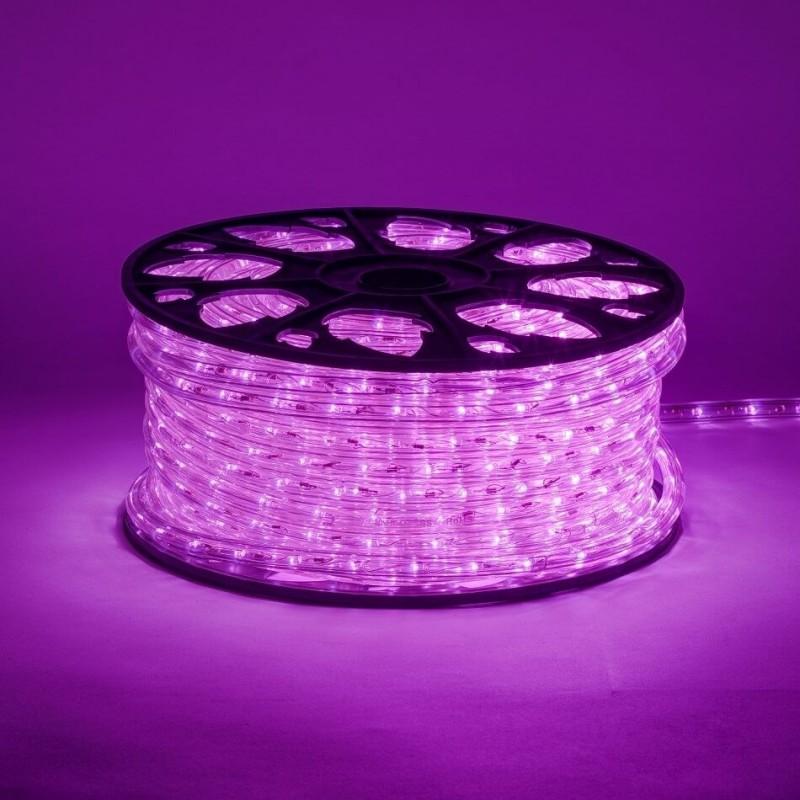 Lankstus šviečiantis LED kabelis 50 m, karp. kas 1 m rožinė