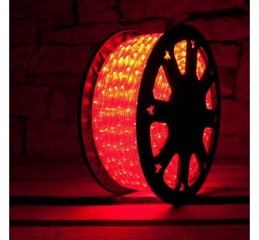 Lankstus šviečiantis LED kabelis 50 m, karp. kas 1 m raudona