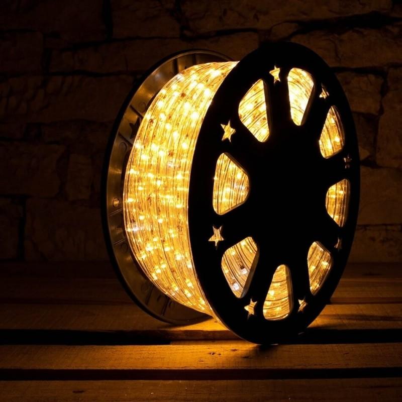 Lankstus šviečiantis LED kabelis 50 m, karp. kas 1 m šiltai balta