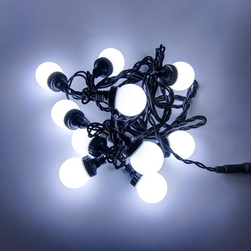 LED burbulinė girlianda 5 m šaltai balta