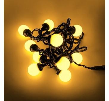 LED burbulinė girlianda 5 m šiltai balta