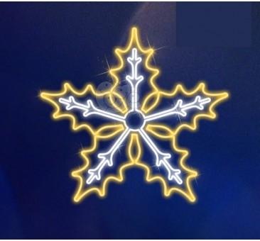 2D LED dekoracija SNAIGĖ 125 x 115