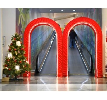 3D RAUDONI vartai 2,7 x 2,5 m